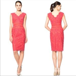 Tadashi Shoji lace vneck shift dress